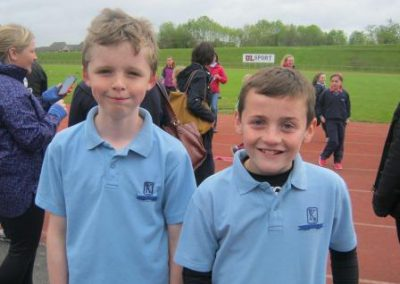 Knockea NS U.L. Athletics Competition 2 boys supporting