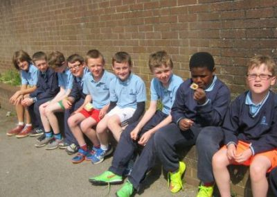 Knockea NS U.L. Athletics Competition boys supporting